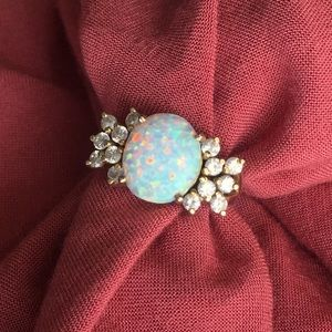 Jewelry - Lab created opal and diamond ring